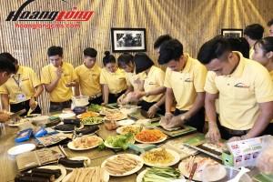 TTS Hoàng Long CMS trải nghiệm làm sushi đúng kiểu Nhật