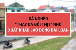 """[BÁO DÂN SINH] Xã nghèo """"thay da đổi thịt"""" nhờ xuất khẩu lao động Đài Loan"""