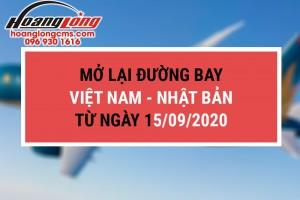 Mở lại đường bay quốc tế Việt Nam – Nhật Bản từ ngày 15/9/2020